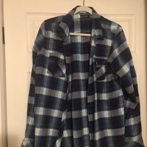 Blue Volcom flannel